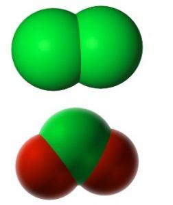 Chlorne / chlorine dioxide Molecule